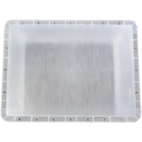stabiler transparenter kunsttoffbeh lter 46 liter volumen. Black Bedroom Furniture Sets. Home Design Ideas