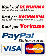 Unsere Bezahlm�glichkeiten